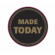 'Made Today' Black and Gold Circle Labels