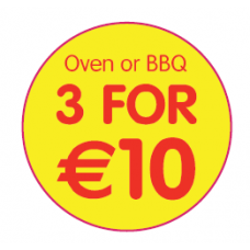 '3 For €10 - Oven or BBQ'