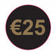 Black & Gold '€25' Labels