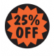'25% Off' - 2,000 Labels - Fluorescent Labels