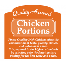 Butcher Label 'Quality Assured Chicken Portions'
