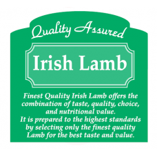 Butcher Label 'Quality Assured Irish Lamb'