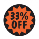 '33% Off' 2,000 Labels Fluorescent Labels