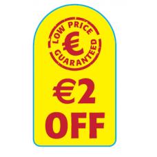 Promo Labels '€2 Off'