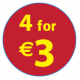 '4 For €3'