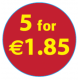 '5 For €1.85'