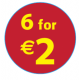 '6 For €2'