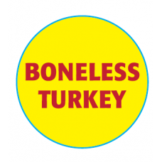 Butcher Label 'Boneless Turkey'