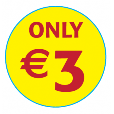 'Only €3'